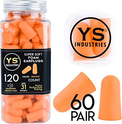 10//50Pair Memory Foam Soft Ear Plugs Sleep Work Travel Earplugs Noise Reducer H
