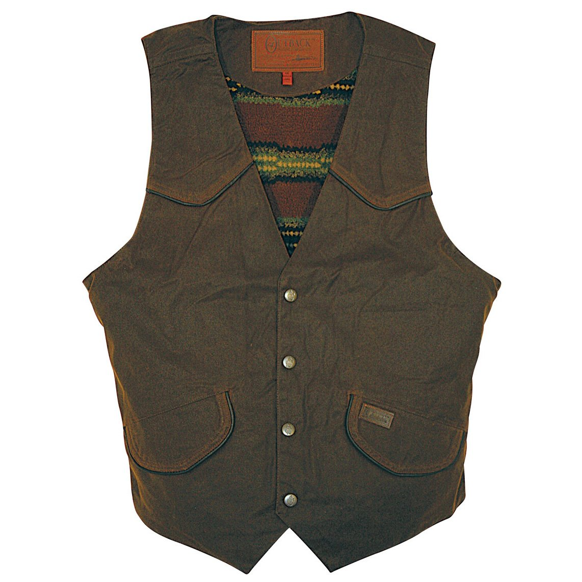 Outback Trading Company Cliffdweller Oilskin Vest 080124