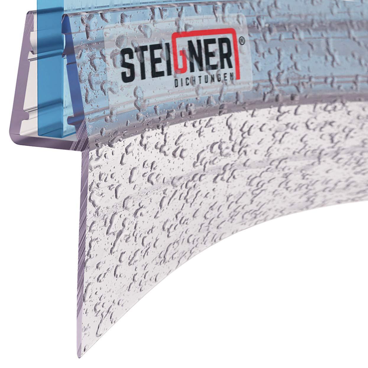 STEIGNER Guarnizione di Ricambio 30 cm UK04 per Vetri di Spessore 3,5 mm 5 mm 4 mm