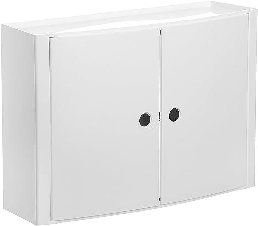 Oferta amazon: Tatay 4480202 - Armario de baño Horizontal con Dos Puertas en PP, 46 x 15,5 x 32 cm, Apto para Sistema de fijación Glu&Fix armarios, Blanco