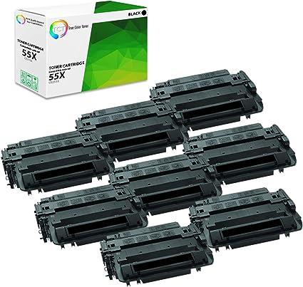 2 PK 55A CE255A Toner Cartridge Compatible For HP LaserJet P3015d 3015n 3016