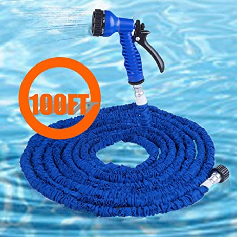100ft Most Heat Resistant Water Garden Pipe Expandable Hose As Seen On Tv ,blue