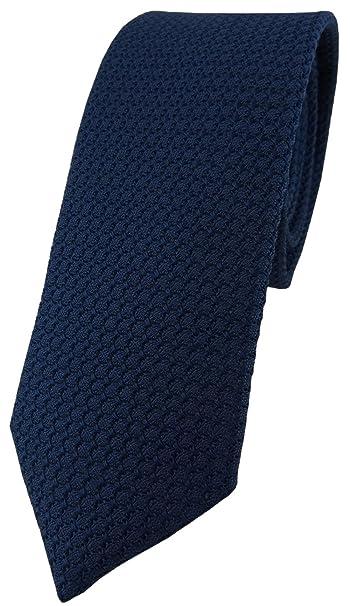 Blick. elementum - Corbata de seda - Garza en marina navy azul ...