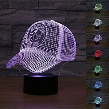 Pleasing Superniudb 3D Mlb Boston Red Sox 3D Hat Night Light Desk Lamp 7 Colors 3D Optical Illusion Lights With Acrylic Flat Abs Base Usb Charger Dailytribune Chair Design For Home Dailytribuneorg