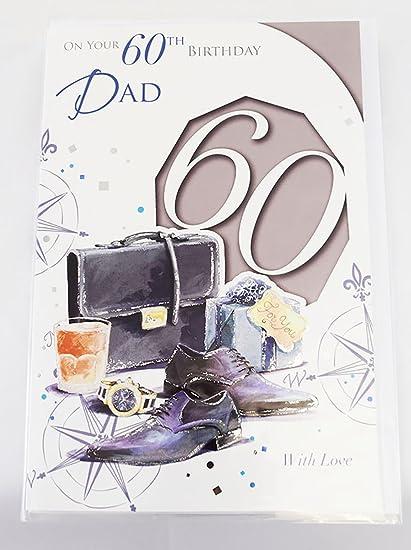 Happy 60th Birthday Dad Tarjeta elegante hombre Lovely Verse ...