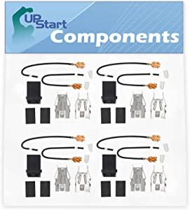 4-Pack 330031 Top Burner Receptacle Kit Replacement for Whirlpool RC8200XKW0 Range/Cooktop/Oven - Compatible with 330031 Range Burner Receptacle Kit - UpStart Components Brand