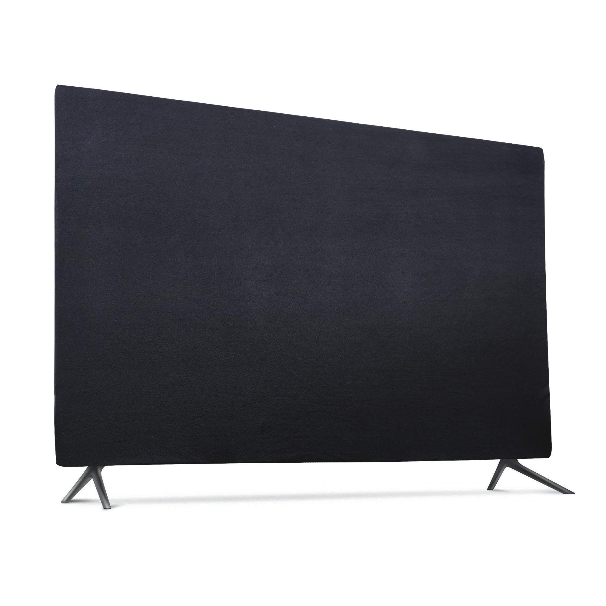 Indoor TV Set Cover, Soft Lycra Fabric Universal 65'' Flat Screen Dust-Proof Protector (65'', Black) by TXesign
