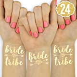 xo, Fetti 24 Bride Tribe Flash Tattoos - Gold | Bachelorette Party Decorations, Bridesmaid Gift + Bride to Be Favor