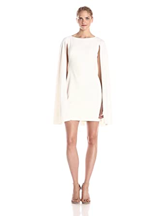 Adrianna papell white cape dress