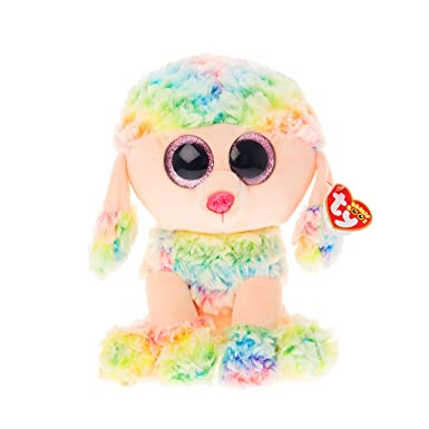 Claire s Girl s TY Beanie Boo Medium Rainbow the Poodle Soft Toy in Rainbow.   Claire s  Amazon.co.uk  Clothing 25e6be20e32e