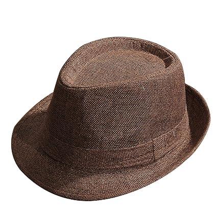 Kentop Jazz Cappello Uomo e Donna Paglia Cappello Panama Borsalino –  Cappello da Sole 634c48c64dc9