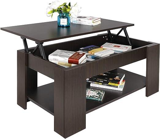 Amazon Com Super Deal Lift Top Coffee Table W Hidden Compartment