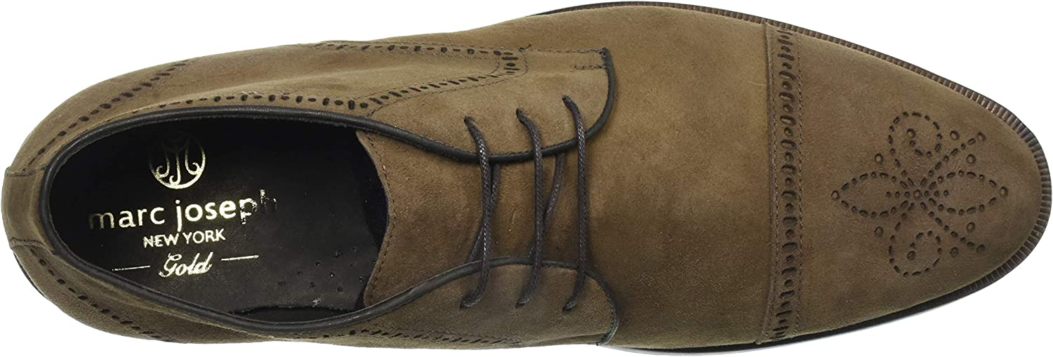 MARC JOSEPH NEW YORK Men's Leather Gold Collection Dress Ankle Boot Cappuccino Kid Suede 2