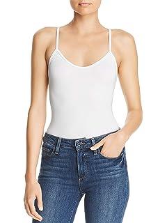 Mujer Camiseta Lisa Tirantes Espaguetti Interior con Sujetador Elástico sin Mangas