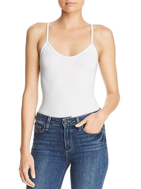 Mujer Camiseta Lisa Tirantes Espaguetti Interior con Sujetador Elástico sin Mangas: Amazon.es: Ropa y accesorios