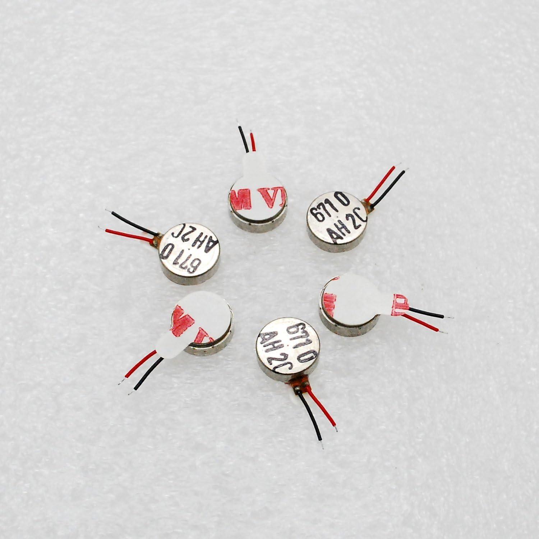 10pcs 2.5V-3.7V Dc 70mA Brushless Coin Vibration Motor 104mm Strong Vibrating Motor DIY Cell Phone Vibration DC Micro Vibrator Motor