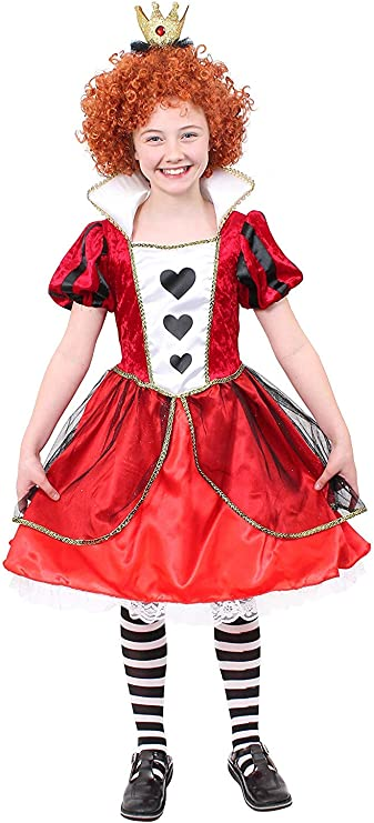 I LOVE FANCY DRESS LTD Disfraz DE Reina DE Corazones para NIÑAS ...