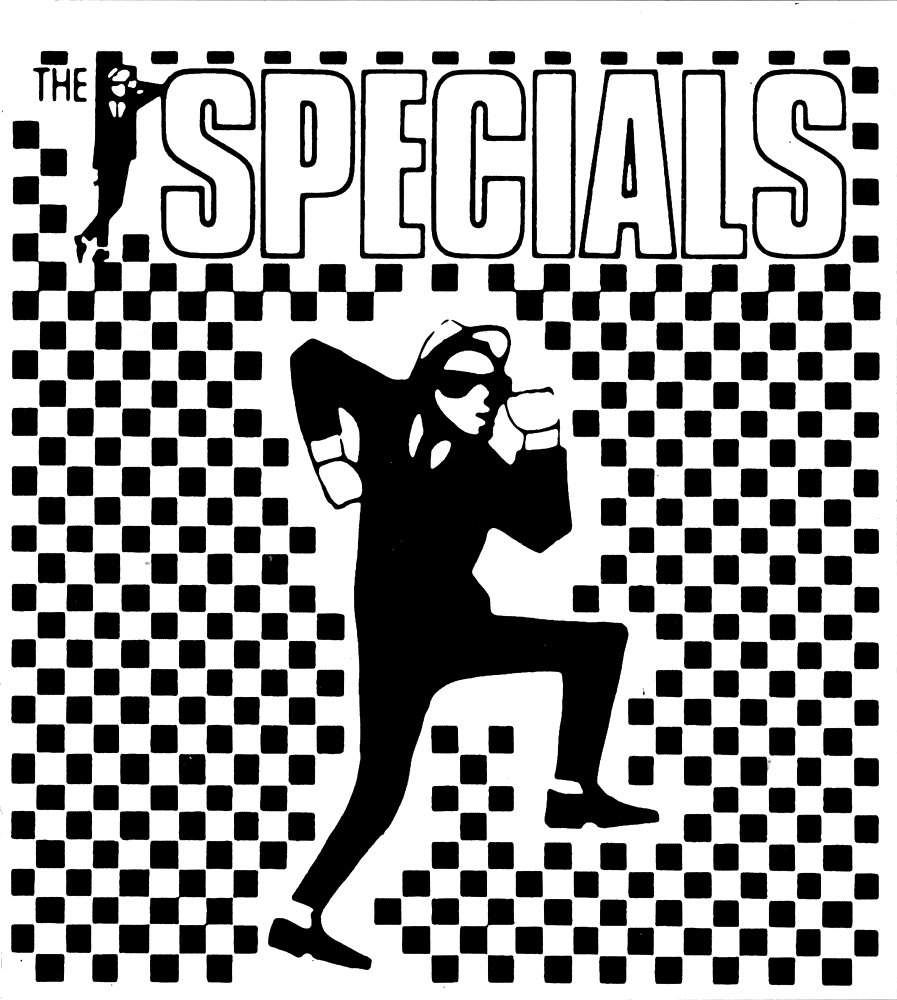 Rude Boy on Ska Checkers with Logo Sticker Decal Square Deal Recordings /& Supplies The Specials
