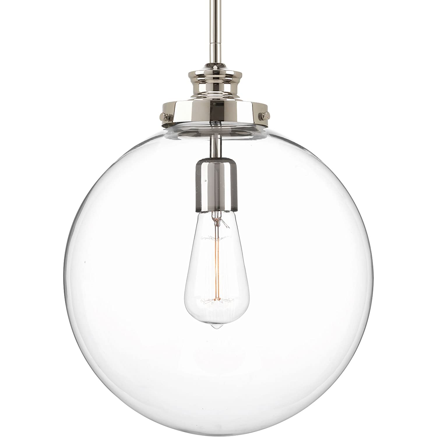 Progress Lighting P5328-104 Penn One-Light Large Pendant, Polished ...