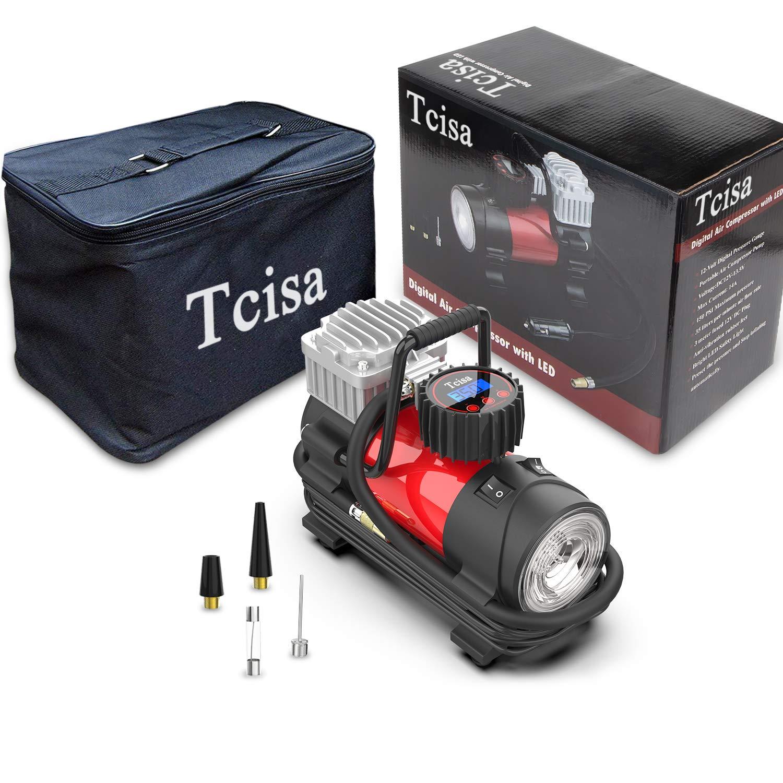 Tcisa 12V DC Portable Air Compressor Pump Upgraded Digital Tire Inflator with Gauge 140W 150 PSI