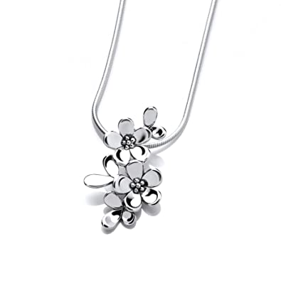 Tiny sterling silver forget me not pendant amazon jewellery tiny sterling silver forget me not pendant aloadofball Image collections
