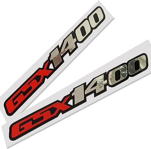 Suzuki Gsx 1400 Rot Silber Chrom Auf Schwarz Grafik Aufkleber Aufkleber X 2 Auto