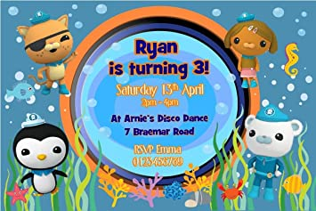 PERSONALISED OCTONAUTS BIRTHDAY PARTY INVITATIONS x10 Amazoncouk