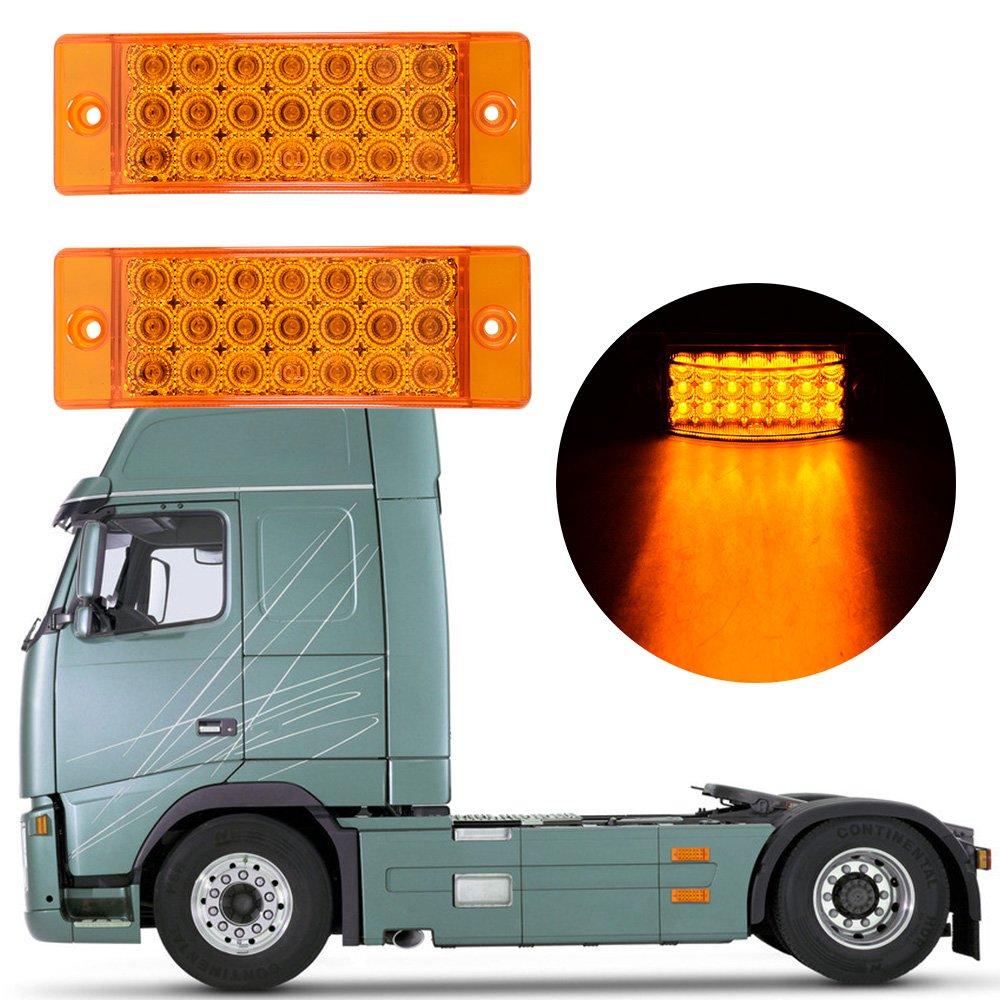 21 Led Side Marker Reflector Clearance Rectangle Tail Light Trailer With 2 Wire Truck Rv 3 Wires