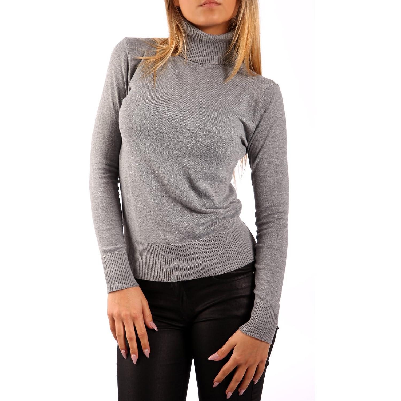 Pullover mit Rollkragen Basic Sweater