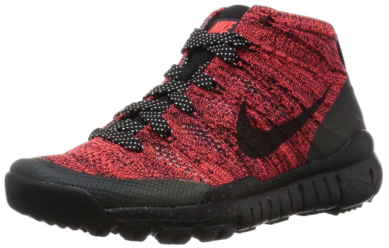 Nike Women's Wmns Flyknit Trainer Chukka FSB, BRIGHT CRIMSON/BLACK-SEQUOIA, 10 US