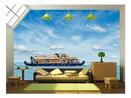 amazon com wall26 tourist houseboat in vembanadu lake, keralaimage unavailable