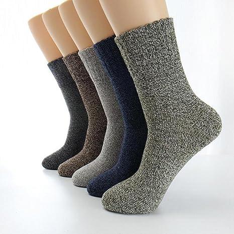 GUANGBO-10 Pares Invierno Lana Calcetines Masculinos Mantener Caliente Cómodo Transpirable Alto Rendimiento Caliente Mantener