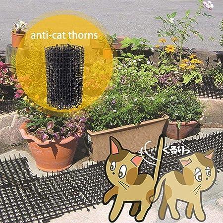 Morningtime Humane - Esterilla para Perros, Gatos, Gatos, Gatos, con Clavos, de plástico, Seguro para ahuyentar a los Animales domésticos, para Proteger el jardín: Amazon.es: Hogar