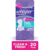 Whisper Daily Liners Clean and Fresh - 20 Count