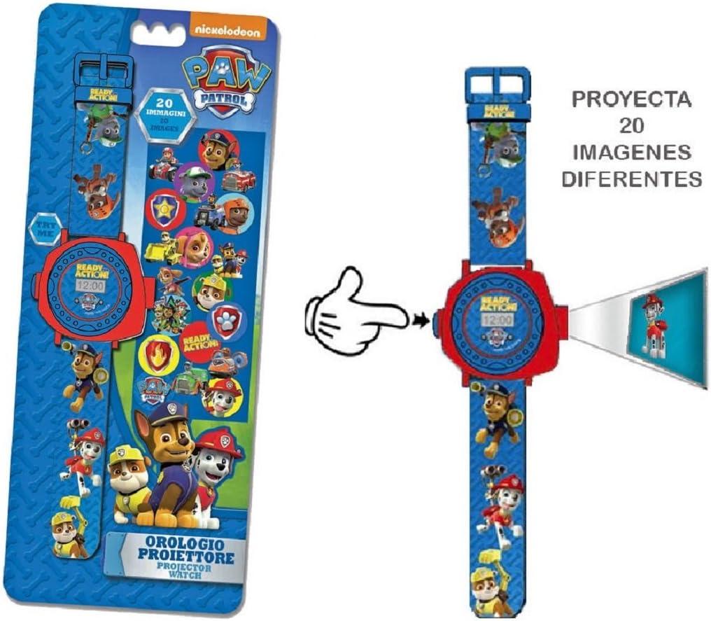 Amazon.es: PAW PATROL- Reloj de Pulsera con proyector de 20 ...