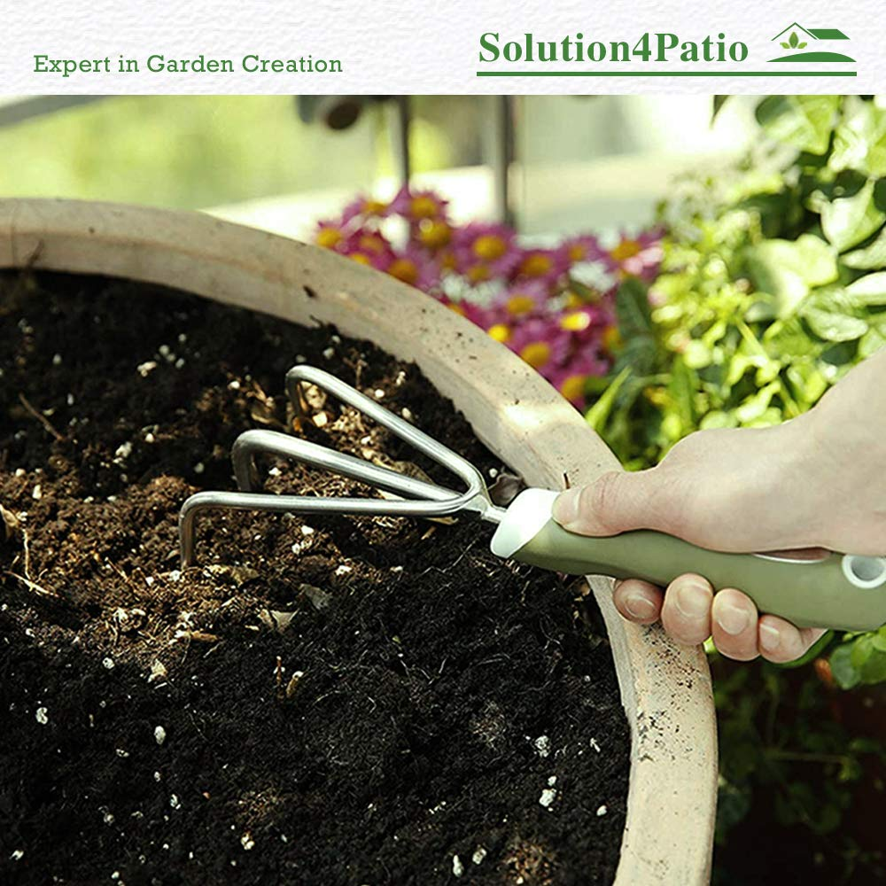 Weeding Moving and Smoothing Soil #2010 Homes Garden Hand Carbon Steel Trowel Bend-Proof 13.5 L x 3.5 W Ergonomic Rust Resistant Gift Soft PVC Handle Little Shovel for Planting Transplanting
