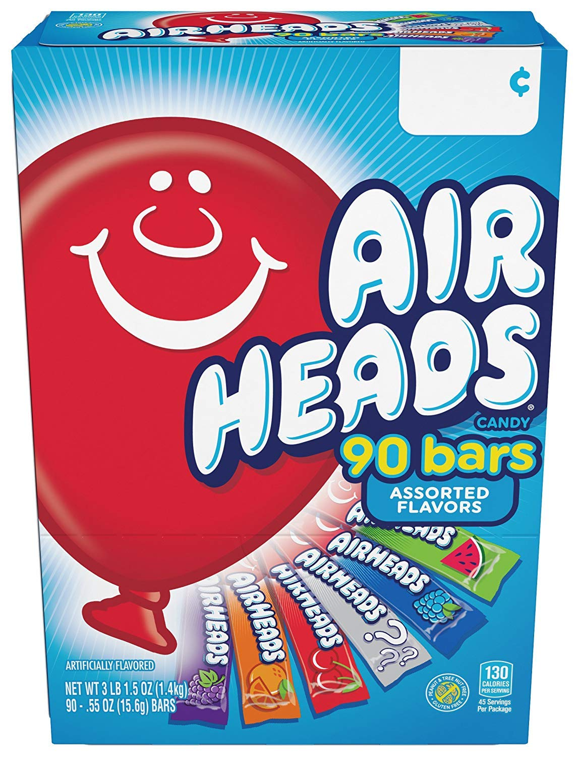 Airheads Bars, Chewy Fruit Candy, Easter Basket Stuffers, Variety Pack, Party, Non Melting, 90Count (Packaging May Vary), 5 Pack by Airheads (Image #4)
