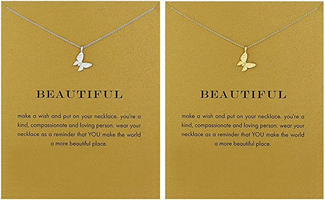 LANG XUAN Friendship Pearl Necklace Lucky Elephant Star Pearl Circle Pendant Necklace for Women Gift Card