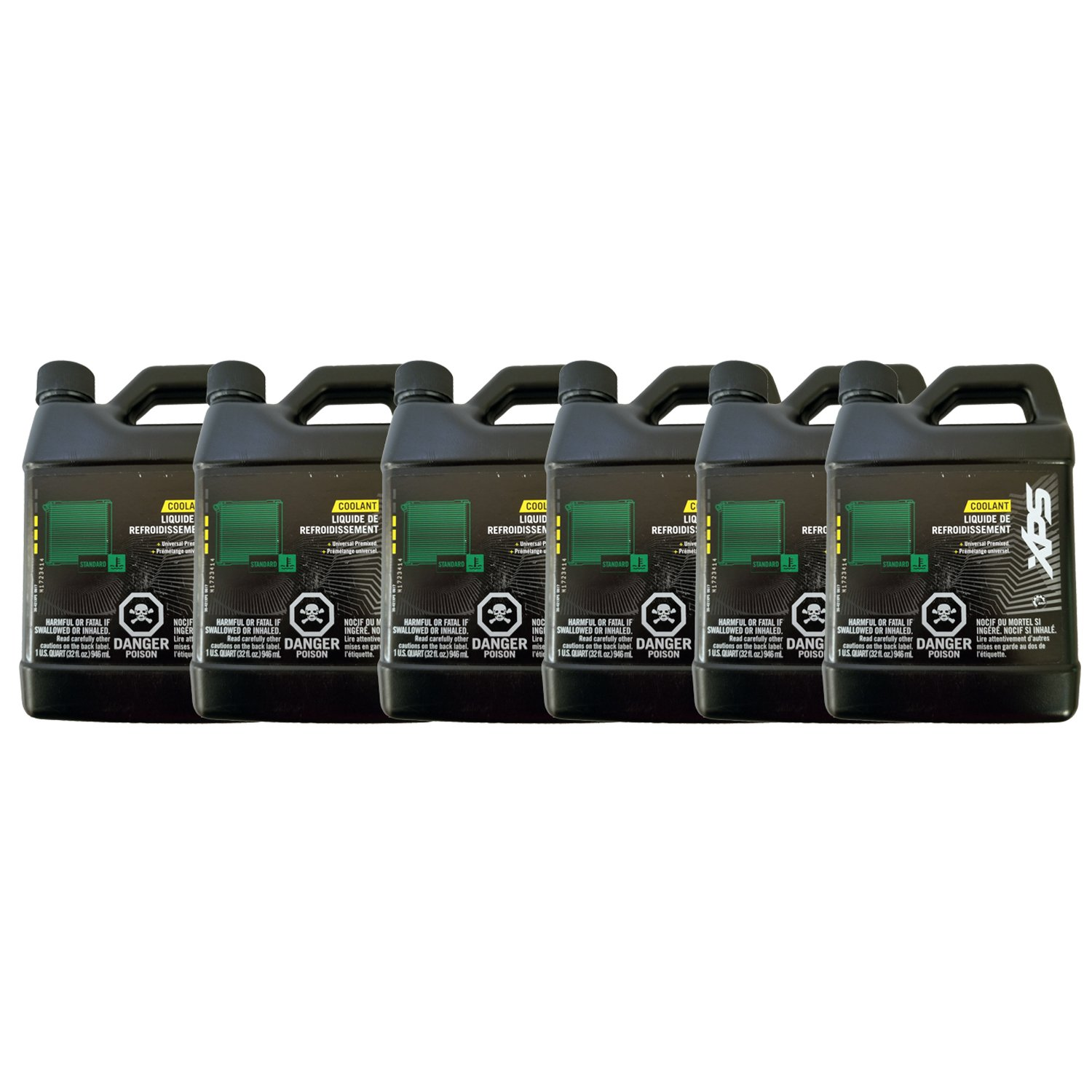 BRP Ski-Doo Can-Am XPS New OEM Pre-Mix Antifreeze/Coolant Quart, 6 Pack, 779149