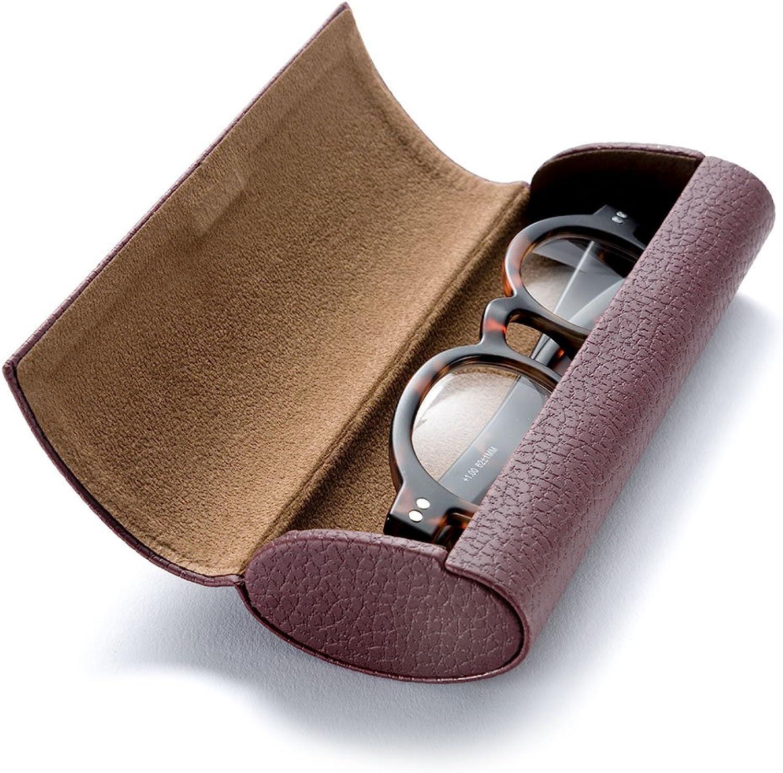 Demarkt Brillenetui Klassisches Hardcase Vintage Brillenetui in Leder-Optik