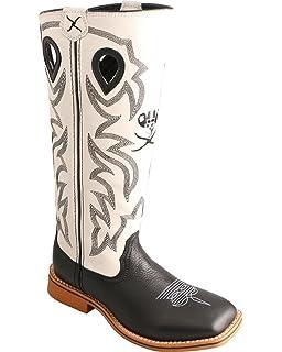 189dbc95b12 Amazon.com: Twisted X Boys' Turquoise Buckaroo Cowboy Boot Square ...