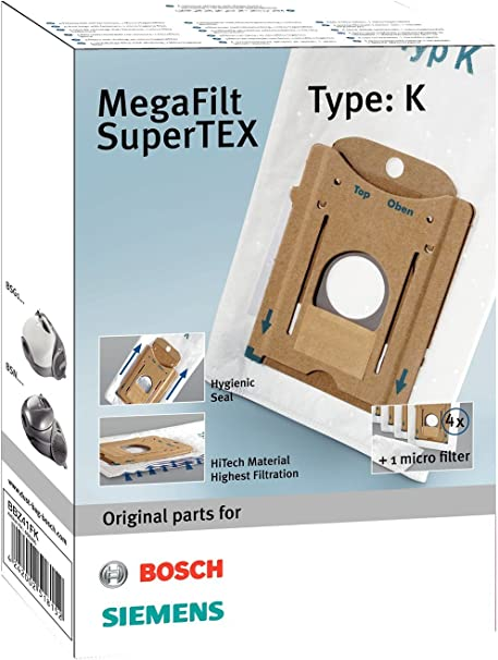 Bosch Megaair SuperTex BBZ41FK - Bolsas para aspiradora, tipo K: Amazon.es: Hogar