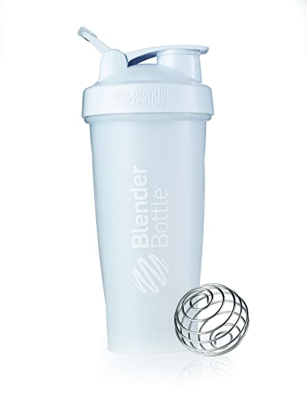 BlenderBottle Classic Loop Top Shaker Bottle, 28-Ounce, Frosted White