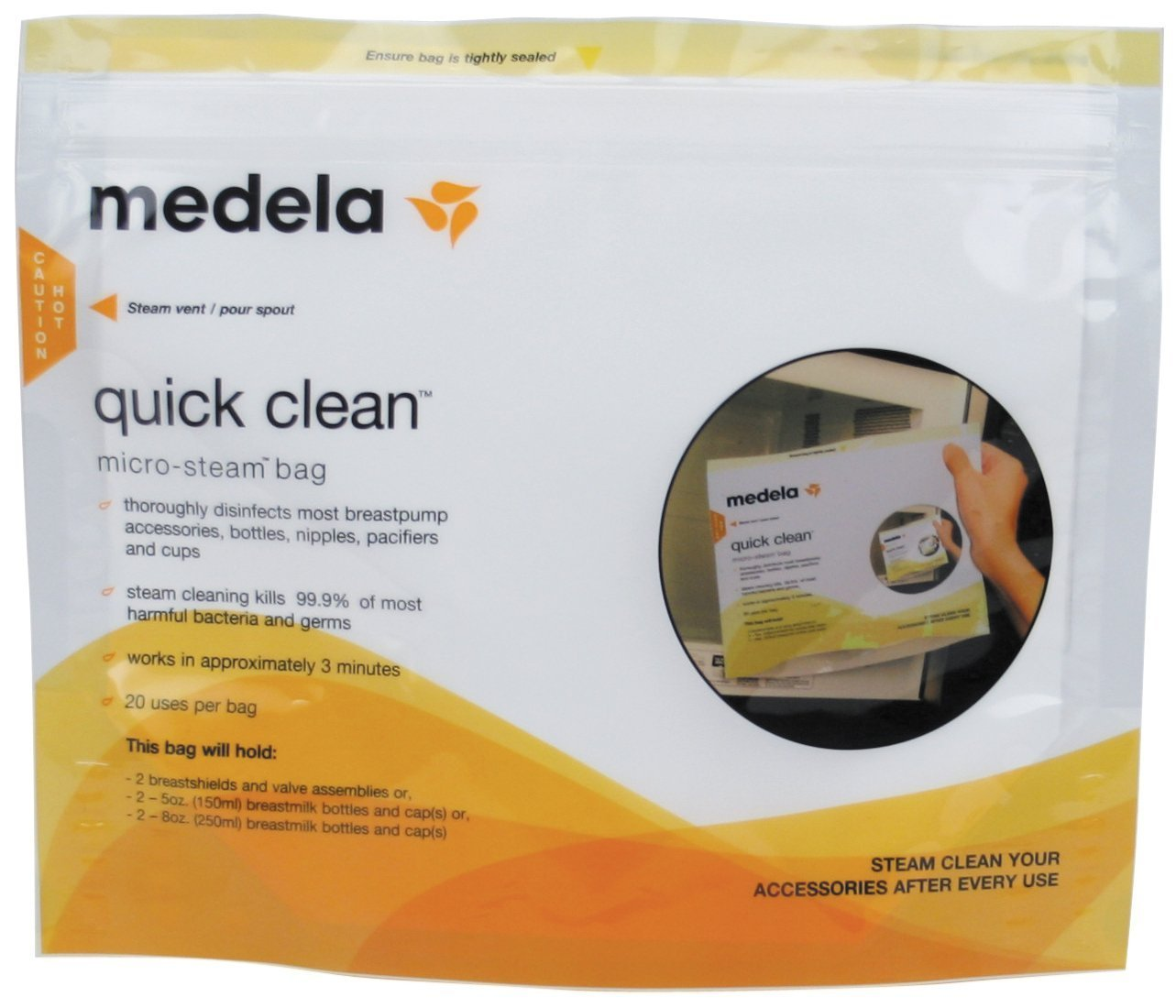 Medela Quick Clean Micro-Steam Bags 87024NA