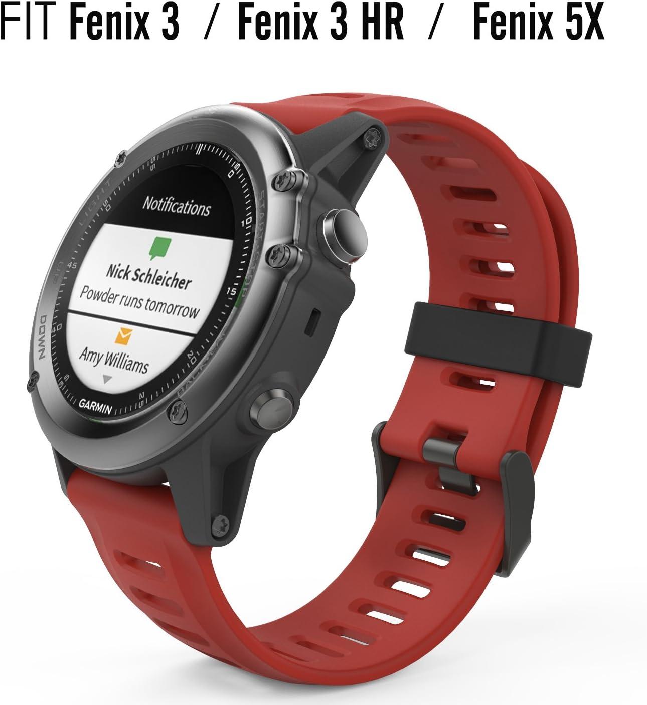 MoKo Pulsera para Garmin Fenix 6X/Fenix 6X Pro/Fenix 3/Fenix 3 HR ...