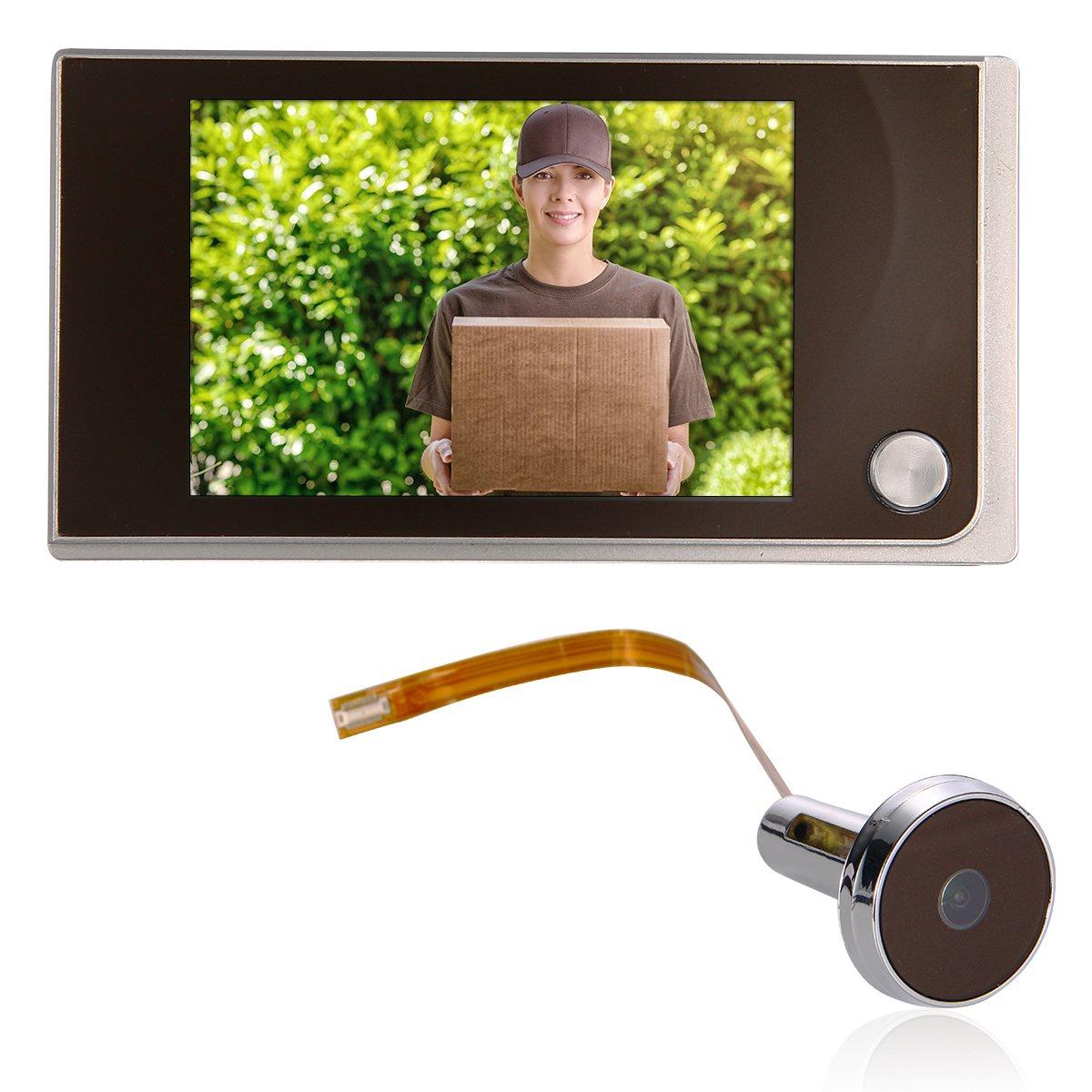 Bonega 3.5 'LCD 120 grados Visor de la puerta Visor de mirilla Camara ancha Digital TH191-SZ-OTBE
