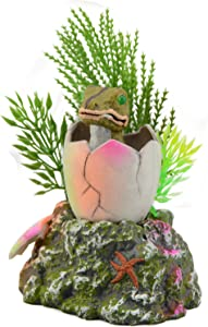 Saim Baby Dinosaur Hatching Out Aquarium Ornament Fish Tank Decoration