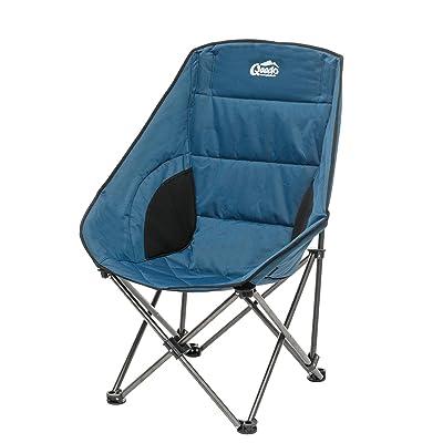Qeedo Johnny Comfort Chaise Pliante de Camping XL Moonchair - bleu