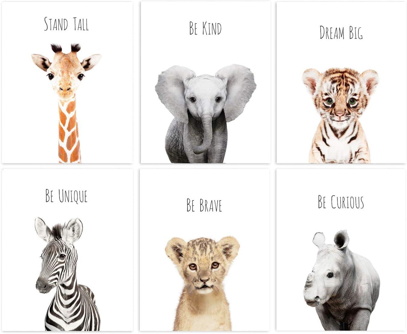 L'AMOUR fou Set of Baby Animal Nursery Prints 8
