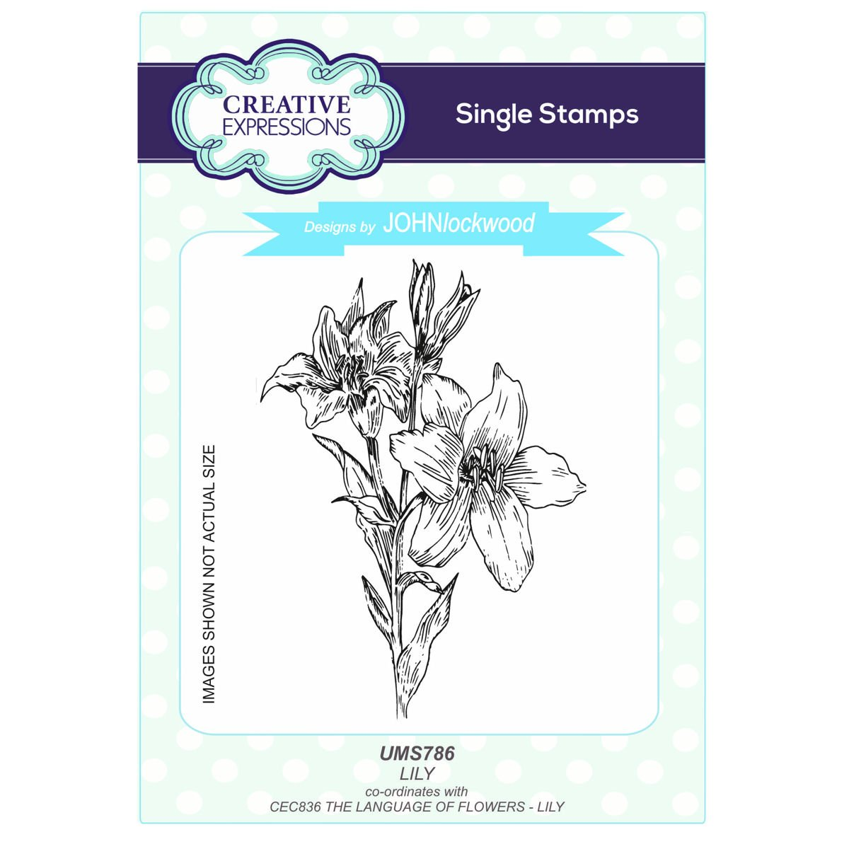 Amazon creative expressions john lockwoods language of amazon creative expressions john lockwoods language of flowers a6 stamp ums786 lily garden outdoor izmirmasajfo